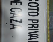 placa de coto privado de caza de 50x33 cms. con matrícula