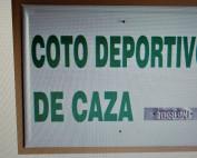 PLACA COTO DEPORTIVO CAZA 1 ORDEN 50X33 CMS.